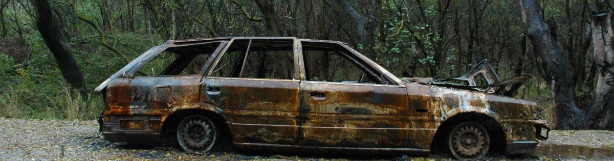 Bil der er rustet væk